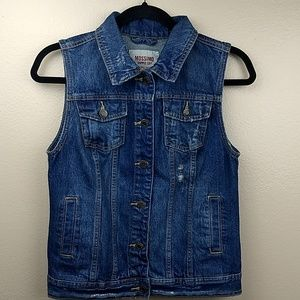 Mossimo Distressed Jean Vest Size M